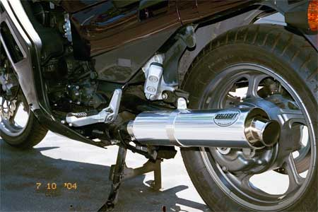 kawasaki concours zg1000 with dale walker holeshot slip on exhaust